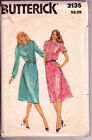 3135 BUTTERICK c1980s DRESS w Front Tucks Sz 12 B 34