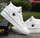 Mens Boys Platform Wedge Sneakers Low  High Top Lace Up Students Shoes Size