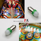 PA 20x 1893 44 47 1847 BA9S 2 SMD LED Green Pinball Machine Light Bulb 63V