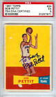 Bob Pettit Autographed Signed 1957 Topps Rookie Card Hawks