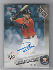 2017 Topps Now Auto #AS-16B ON-CARD 28 49 GEORGE SPRINGER ASTROS ALL STAR