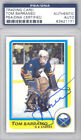 Tom Barrasso Autographed Signed 1986-87 Topps Card #91 Buffalo Sabres PSA DNA