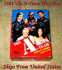 1983 Topps Full 36 Count Wax Box THE A-TEAM N M-Mint Box With No X-Out!!!