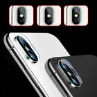 For iPhone X Full Cover 3D Curved Camera Lens Tempered Glass Screen Protector LU