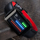 DETOMASO Spacy Timeline Mens Watch Stainless Steel Binary LED Display Black New