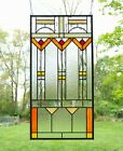 17 x 34 Stained Beveled clear window panel FRANK LLOYD WRIGHT TREE OF LIFE