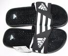 ADIDAS ADISSAGE MASSAGE MENS BLACK SLIDES SANDALS NEW WITH TAGS SIZE 9 10 11