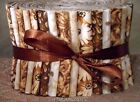 Jelly Roll Strips Quilting Fabric 20 25Brown Cream White Off White Cotton