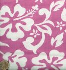 Aloha pink flowers floral flannel fabric