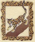 Embroidered Short Sleeved T Shirt Clouded Leopard A4502 Sizes S XXL