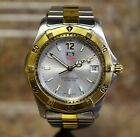 *Tag Heuer WK1120-0 Two Tone Stainless Steel Professional Quartz Date Watch