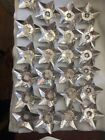 Vintage 24 Star Foil Christmas Light Reflectors With Middle Inserts NICE