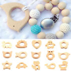 Natural Wooden Eco Friendly Safe Baby Teether Teething Toys Baby Shower TO