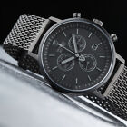 DETOMASO Milano Black Milanaise Mens Watch Stainless Steel Chronograph New
