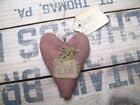 PRIMITIVE HEART LOVE  HANGER valentines extreme tree ornament RUSTIC GOODS
