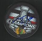 Scott Darling Signed Chicago Blackhawks 2015 Stanley Cup Champions Puck