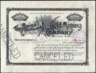 ACACIA GOLD MINING CO 1900 CRIPPLE CREEK CO STOCK CERTIFICATE A BARGIN