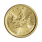 Canada Gold Maple Leaf - 1/10 oz - $5 - BU - .9999 Fine - Random Date