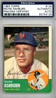 Richie Ashburn Autographed Signed 1963 Topps Card #135 New York Mets PSA DNA