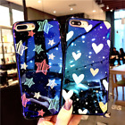For iPhone X 8 7 Plus Reflective Cute Slim Star Starry Sky Protective Case Cover