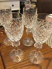 Waterford Crystal POWERSCOURT  Set of 5 Sherry Wine Glasses--Signed
