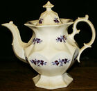 1844 Copper Luster Chelsea Grape Coffee Pot England * Edward Walley Ironstone