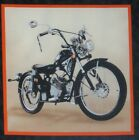 Vintage Motorcycle Black 975 Quilt Block Square Classic Bikers Ride Fabric