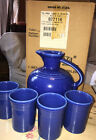 Fiesta CARAFE and TUMBLER SET Retired Item First quality,  New In Box SAPPHIRE