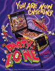Party Zone Pinball Machine Original Flyers Mint Condition Fifty Pieces