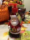 CCHRISTMAS SANTA  CLAUS SOAP FILLED PUMP DISPENSER  NWT SUGAR COATED APPLE SCENT