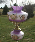 Vintage SWAG LIGHT GWTW Hurricane Purple Wind Hanging Lamp