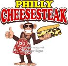 Philly Cheesesteak Decal Choose Your Size Monkey Concession Food Sticker