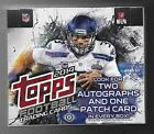 2014 Topps Jumbo Football Factory Sealed box of 10 packs of 50 cards 2 autos