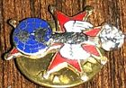 RAREVTG 14KT GOLD KNIGHTS OF COLUMBUS PEACE DOVE PIN WITH 15PT DIAMOND