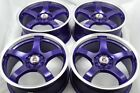 17 purple Wheels Rims Vibe CRZ Element Soul Accord Elantra Eclipse 5x100 5x1143