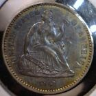 1861 TONED Seated Half Dime Pre Civil War Silver Coin AWESOME Blue Yellow TONE 3