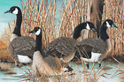 Geese Naturescapes Northcott Fabric Digital Quilt Panel 28 x 42