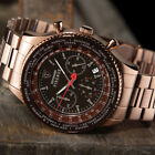 DETOMASO Firenze Mens Wrist Watch Chronograph Brown Stainless Steel New