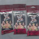 2014 TOPPS CHROME WWE VALUE PACK 3 PACK LOT EACH WITH 3 PACKS 4 ATOMIC REFRACTOR
