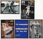 1993 Ted Williams Co. Memories '55 Dodgers Set - Roy Campanella + More