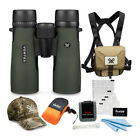 Vortex 8x42 Diamondback Roof Prism Binoculars with Glasspak Harness Case Bundle