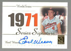 EARL WEAVER 2003 TOPPS TRIBUTE WORLD SERIES SIGNATURE AUTO JERSEY ORIOLES