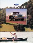 1996 Ford Bronco 10 page Original Sales Brochure Catalog XLT Sport Final Year