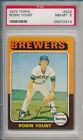 Robin Yount Milwaukee Brewers HOF 1975 Topps Baseball #223 Rookie Card rC PSA 8