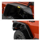New Textuered Extender Flat Fender Flares With LED light For 2017 Jeep Wrangler