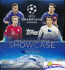 2015 16 Topps Champions League Showcase Sealed 8 Box HOBBY CASE-16 AUTOGRAPHS