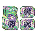 Personalized Green And Plum Car Mats