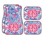 Personalized Pink And Blue Starfish Car Mats