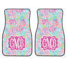 Personalized Pink And Coral Ocean Car Mats