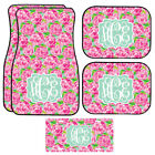 Personalized Pink Roses Car Mats